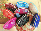 Wholesale 10pcs Mix color silk pouch jewelry Zipper Bags Coin Bag Gift Bags