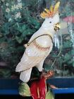 WHITE COCKATOO  ~ BEJEWELED TRINKET BOX  WITH AUSTRIAN CRYSTALS ~ #4171