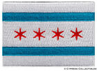 CHICAGO ILLINOIS CITY FLAG embroidered iron-on PATCH EMBLEM new applique