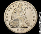 1866 SEATED LIBERTY DOLLAR- SEMI-KEY EXTRA FINE+/ALMOST UNCIRCULATED !! #V3437