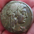 ANCIENT CLEOPATRA I AS ISIS EGYPT PTOLEMY 19.6g 28mm COIN 204-180 BC Rare BRONZE