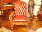 Antique Tiger Oak Carved Rocking Chair-new lowered price Wood