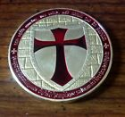 1 OUNCE OZ KNIGHTS TEMPLAR COIN - 24k .999 FINE GOLD/METAL **HOT DESIGN**