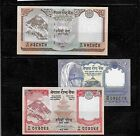 NEPAL 3 DIFF UNCirculated MINT BANKNOTE BILL PAPER MONEY NOTE LOT SET COLLECTION