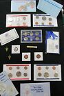 HUGE COIN LOT MINT+PROOF SETS 1958 WHEAT OLD VINTAGE COINS 1969-S NO RESERVE 17