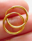 EXCELLENT! 22K THAI BAHT SOLID GOLD HOOP EARRINGS SIZE 14 MM.!!