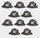 10 LEGO Minifig Headgear Hat Pirate with Large Square Skull lot new