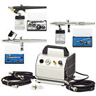 New Airbrushing Kit with 3 Airbrushes and Airbrush Compressor