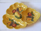 VINTAGE MAURICE OF CALIFORNIA FR-203 USA DIVIDED SERVING DISH FRUIT BOWL YELLOW
