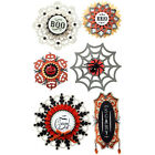 LARGE DOILY MEDALLIONS Jolees Boutique Stickers 50 50611 Halloween Boo Creepy