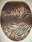TOILET SEAT LID COVER FOR ELONGATED LID  *BLACK AND BROWN TIGER PRINT*