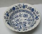 Vintage Old Vienna Wood & Sons Ironstone Blue Onion Serving Bowl Burslem England