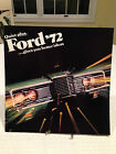 RARE Vintage 1972 FORD MOTORS Full Color 20-page Sales Brochure Specs Auto Car