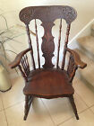 NEW LOW PRICE! ANTIQUE CARVED OAK Wood Rocker/Rocking Chair--A Beautiful Item