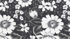 Dear Stella Ashe S373 Charcoal Flowers Bty Cotton Fabric FREE US SHIPPING
