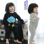 Kids Raindrop Baby Girls Long Sleeve Outfits Cotton Jumpsuit Climbing 3-12M