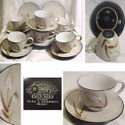 Japan 14pc UCAGCO Textured WILD RICE Stoneware 6 Sets Cups & Saucers + 2 Saucers