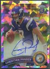 2011 Topps Chrome Christian Ponder Rookie Crystal Atomic Refractor Auto #04 50
