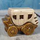 Cowboy Vintage Hand Painted Ceramic Western Wagon Stacking Salt