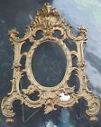 Antique Cast Iron Golden Ornate Picture Frame for Mirror or Picture