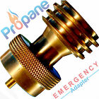 BBQ Grill Saver 1lb Propane Tank Gas Adapter Connector Brass Cook Backup Steak
