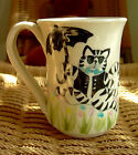 LOLA BARB DANCING CAT WITH UMBRELLA/FLOWERS HANDMADE CERAMIC MUG~NEW MEXICO~HTF