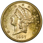 1897-S USA $20 Gold Liberty Head Double Eagle