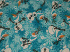 FROZENS OLAF THE SNOWMAN FLEECE MATERIAL 2 YARDS BRAND NEW