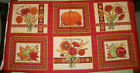 AN AUTUMN SEASON PUMPKIN AND SPICE COTTON QUILTING FABRIC PANEL