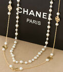 The new noble multilayer pearl fashion clover hollow long necklace