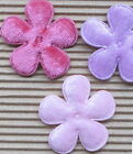 US SELLER 60 pc x 15 Padded Felt Velvet Flower Appliques for Bow Cards ST375
