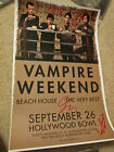 VAMPIRE WEEKEND Heavy Cardstock POSTER SIGNED AUTOGRAPHED