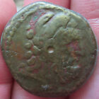 ANCIENT EGYPT PTOLEMY ZEUS EAGLE 8.8g 22mm 300-100 BC COIN Rare BRONZE