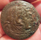 ANCIENT EGYPT PTOLEMY HERKALES ALEXANDER EAGLE 10.3g 25mm COIN Rare BRONZE