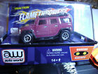 SOLD OUT Rare Autoworld Xtraction Rel 4 Plum Hummer Flame T HO Slot Car Fits AFX
