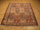 c1960s AUTHENTIC 100% WOOL ANTIQUE GARDEN DESIGN SAMAN BAKHTIARI RUG 5.5x6.10
