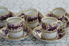 Exquisite T. Goode London 5 Demitasse Cups and Saucers Grapes and Leaves