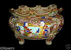 Antique Moriage Japanese Meiji Period c.1880s Applied Decoration Porcelain Bowl