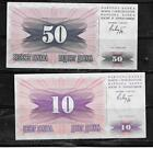 BOSNIA 2 DIFF XF-AU USED BANKNOTE BILL PAPER MONEY NOTE LOT SET COLLECTION