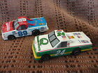 1/64 HO SLOT CAR RACE TRACK SET OF (2) TYCO LIFE-LIKE NASCAR RACE TRUCK #24 RUN!