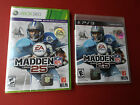 NEW and FACTORY SEALED Madden NFL 25 FOOTBALL PS3 and XBOX 360 LOT 2013 RELEASE