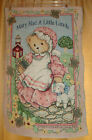 Mary Had A Little Lamb TEDDY BEAR Priscilla Hillman TAPESTRY Wall Hanging 1998