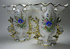 Pair of Vista Alegre Vases - Porcelain - Made in Portugal - Gold and Floral