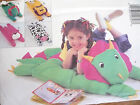 Easy Butterick Pattern Plush Animal Pillow Covers For Play & Sleep Uncut!!