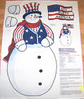 PATROITIC SNOWMAN DOOR HANGING FABRIC PANEL