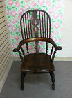 GORGEOUS ANTIQUE HIGH BACK WINDSOR CHAIR circa 19th Century - NICE PATINA