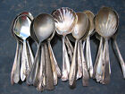 Vintage Silverplate Casserole Serving Spoons Craft Grade Flatware Lot of 40