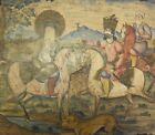 Fine & Unique 18th C. Persian Painting on Wood  c. 1750  antique art