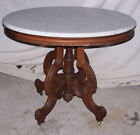 Victorian Antique Oval Marble top Table