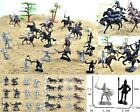 28 pcs Knights Warriors Horses Medieval Toy Soldiers Figures Free Ship BIN